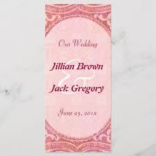 Wedding Program Scroll Antique Scroll Wedding Program