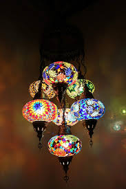 Moroccan Light Fixture Name Handmade Authentic Mosaic Chandelier Tiffany Style Glass Moroccan Ottoman Style Night Lights Blue And Red 7 Globes