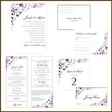 Wedding Insert Templates Wedding Reception Invitation Templates Word Cards Free For