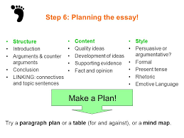 discursive writing ppt video online  step 6 planning the essay