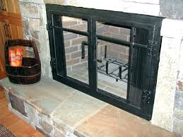 wood burning fireplace doors door with blower for kit use stove open