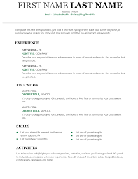 Modern Resume Template Free Download Eadily Read By Resume Reading Soft Wear 20 Free And Premium Word Resume Templates Download