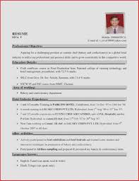 Sample Resume For Hospitality Students New Resume Examples