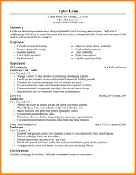 Resume First Line Supervisors Landscaping Groundskeeping Workers