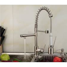 pull kitchen faucet color:  contemporary single handle nickel brushed pull out spray led kitchen faucet with  color changing