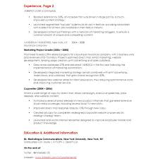 Marketing Director Resume Unbelievable Marketing Resume Cover Letter Director Project 92