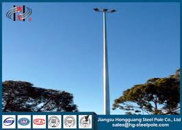 High Mast Lighting Manufacturers Height 20 30m Led High Mast Steel Lighting Poles With Lifting System For Stadium