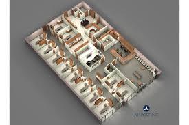 3d office floor plan. Beautiful Office Dental Office 3D Floor Plan And 3d O