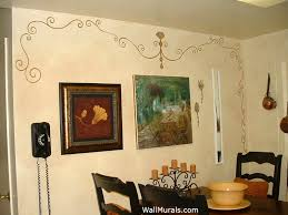 faux finish walls in kitchen painted scroll design