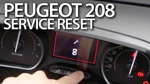 Peugeot 208 Reset Service Reminder Spanner