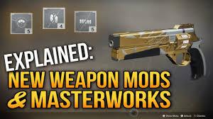 Destiny 2 Explained New Weapon Mod Masterwork System Forsaken Dlc