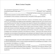 Music Contract 20 Music Contract Templates Word Pdf Google Docs Apple