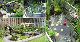 21 diy water pond ideas diy water gardens for backyards balcony garden web