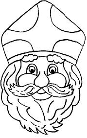 Hoofd Van Sinterklaas Kleurplaat