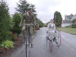 meet the washington couple who lives like they re in the victorian sarah and gabriel chrisman sometimes turn heads while riding their 19th century bicycles where they live