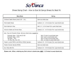 Size Chart For Toddler Ballet Shoes Target Junior Sizing