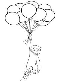 Small Picture Curious George Holding A Lot Of Balloons Coloring Page Art 20081