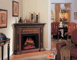 san marco corner antique walnut electric fireplace 28 inch classic flame