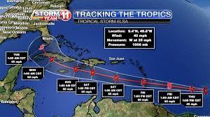 Tropical Storm Elsa forms in the Atlantic
