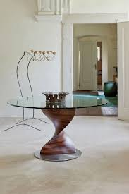view in gallery gorgeous dining table with a unique sculptural base