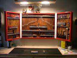 image of recessed garage tool storage