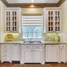 Kitchen Crown Moulding Sink Bump Out Kitchen Traditional With Window Treatment