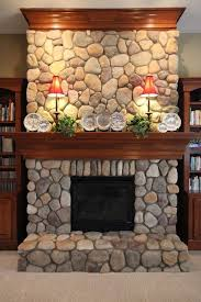 fireplace river rock built ins google search more