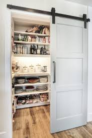 sliding barn door kitchen transitional with kitchen pantry walk in door pantry cabinets