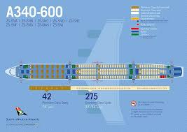 Saa Airbus A340 600 Seatmap Airplane Travel Information