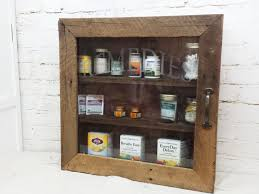 Rustic Medicine Cabinet With Mirror Rustic Barn Wood Remedies Cabinet Bathroom Or Kitchen Storage