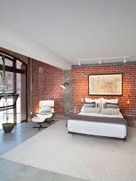 modern bedroom brick wall brick