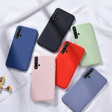 Huawei Nova 5t Candy Case <b>Soft Silicone Pure Color</b> Case Covers ...