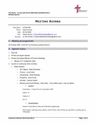 005 Examples Of Agendas For Meetings Format Microsoft Word Proposal