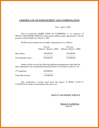 Example Certificate Certificate Of Employment Separation Sample