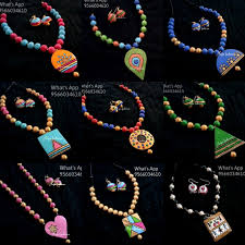 Funky Necklace Designs Anjos Fashions Terracotta Jewellery Designs Terracota