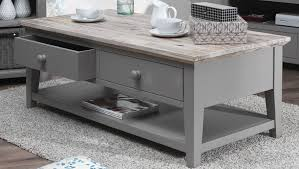 ... Coffee Table, Attractive Rectangle Traditional Wood Gray Coffee Table  With Storage And Drawers Designs To ...