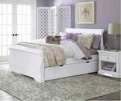 bed  bedding white leather full size trundle bed for bedroom