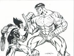hulk and wolverine coloring pages | Lineart: Hulk VS ...