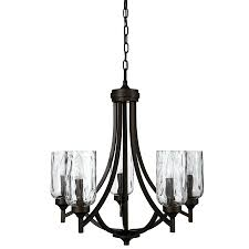 black metal candle chandelier allen roth latchbury 2373 in 5 light aged bronze craftsman textured glass shaded small black candle chandelier black iron