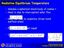 radiative equilibrium temperature
