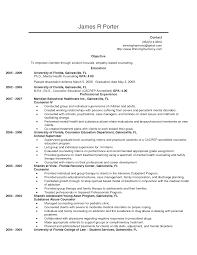 Mental Health Counselor Job Description Resume