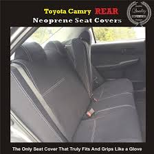 seat covers rear suitable for toyota camry xv30 xv40 xv50 sedan premium neoprene automotive grade 100 waterproof supertrim