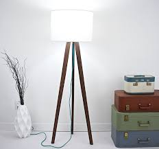 mid century inspired tripod floor lamp