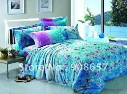 teal and purple comforter sets fl prints cotton girls bedding quilt duvet covers 8