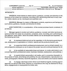 side artist agreement template side artist agreement template nice artist contract templates