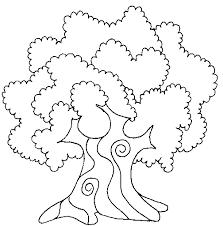 Albero Con Corteccia Arrotondata Disegni Da Colorare Per Bambini