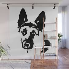 german shepherd dog gifts wall mural