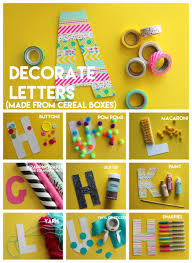 Box Decorating Ideas For Kids Kid craftingmonogram letters from cereal boxes A girl and a 59