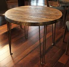 industrial reclaimed wood furniture. reclaimed wood round table industrial furniture e