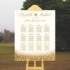 Wedding Seating Chart Wedding Table Plan White And Gold Wedding Sign Printable Wedding Table Chart Elegant Wedding Sign Guest List Glitter